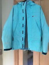 Ladies Berghaus Light Blue Gore-Tex Pro Shell Jacket with Hood Size 10