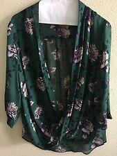 Aritzia Babaton Anderson Silk Blouse Floral Size S Small