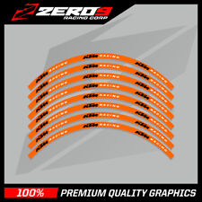 "KTM SX 65 MOTOCROSS RIM DECALS GRAPHICS MX STICKERS 14"" 12"" ORANGE BLACK"