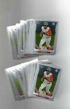 (25) Manuel Margot Bowman ALL Chrome RC Lot BCP90 San Diego Padres Red Sox QTY