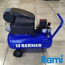 Compressore aria 24 lt Berner gruppo coassiale lubrificato - 10 bar