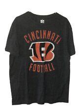 NFL Team Apparel Cincinnati Bengals Football Men's XL T Shirt Charcoal