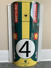 WOW!Curved Jim Clark F1 Team Lotus 49 Ford Racing Race Car Nose Style Sign
