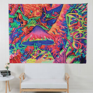 Trippy Mushroom Tapestry Psychedelic Wall Hanging Blanket Room Decor Tapestry