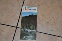 Travel Brochure Panorama Air Tour See All Islands Hawaii c. 1960s/70s