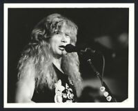 1980s DAVE MUSTAINE Eat The Worm Vintage Original Photo MEGADETH METALLICA gp
