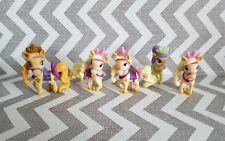 "Lot of 5 Disney Palace Pets Blondie Rapunzel Pony PVC Figure Tangled 2"" Ponies"