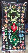Vintage moroccan woollen tribal rug from Ourika 211 x 100cm