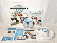 Mario Kart Wii (Nintendo Wii, 2008) W/Wheel CIB with Manual and Guide, Tested