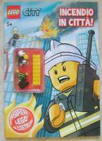 Lego City Incendio in Citta' Panini Magazine Personaggio + Libro
