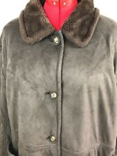 Fitz Wright Size 2X Brown Jacket Faux Fur Lined Coat Faux Suede