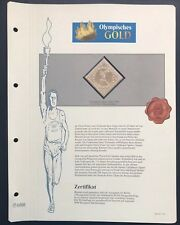 Olympics Tokyo 1964 Japan Gold stamp with 99,8% Goldauflage Only 4.999 MNH 4/10
