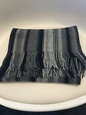 Unbranded mens grey striped scarf