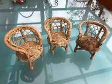 Vintage 1970's Barbie Wicker Chairs (3)