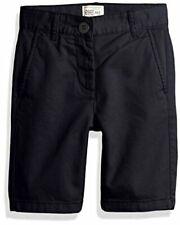 Big Boys' Uniform Chino Shorts, New Navy, Size 16 Husky Hp6e