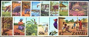 Zambia 1975 set of 14 SG226-239 V.F MNH