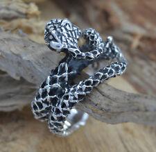 925 Silber schwerer Kobra-Ring Schlangenring Schlange Snake Biker Gothic Gotik