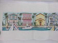 Needle Crossings LIVING ON THE WATER Hand-Painted Needlepoint Canvas #608 NEW