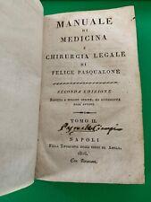 Manuale di medicina e chirurgia legale tomo II di Pasqualone 1816 Napoli