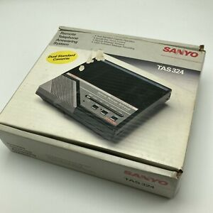 Sanyo Remote Telephone Answering System TAS324 Dual Cassette