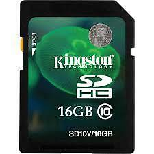Brandnew Authentic Kingston 16G SD card Class 10 SDHC SDXC Memory Card
