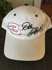Vintage Dale Earnhardt #3 chase authentics Nascar cap hat white snap back - NWOT