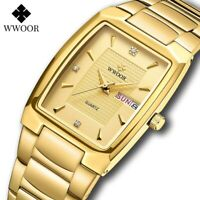 2021 New Square Watch Men with Automatic Week Date Luxury & Stainless Steel🆕💯