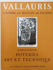 Pablo Picasso Poster,Tipped In, Offs.Lithograph,1971 Nr5, Vallauris Mourlot