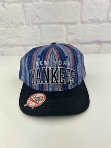 RARE! Vintage 90s MLB New York Yankees ARCH Plaid VTG Starter Snapback Hat Jeter