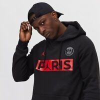 Nike PSG X Jordan Black Hoodie Mens UK Size Medium BQ8350 011 BNWT