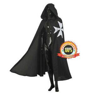 Medieval Cosplay Cotton Hooded Fancy Cape Cloak Costume