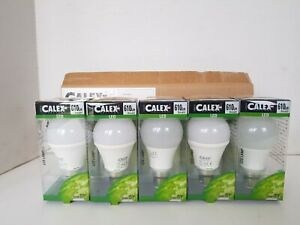 5 x Calex LED A60 lamp 240V 8W 610lm B22 2700K