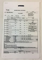 ONE TREE HILL set used CALL SHEET plus 9 pages of sides ~ Season 7, Episode 14