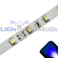 Blue - PLCC2/3528 12V LED Strip - Adhesive Backing - 5m Roll / Reel