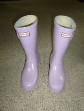 GC Hunter Lilac Light Purple Gloss Short Rain Boots-Size 8 M-see more + save S&H