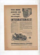 International Truck  Original Advertisement from a Magazine AR-131