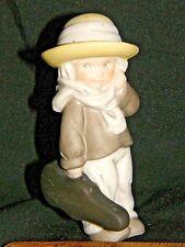 """""""Practice Makes Perfect"""" Violinist - Enesco bisque figurine in the original box"""