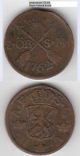 Cu 2 céntimos 1762 suecia Adolf Friedrich 1751-1771 aah 171 aprox. 28,66 G (tb.84)