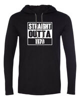 Mens Hooded Straight Outta 1970 T-Shirt 50 Years of Being 50th Birthday Gift