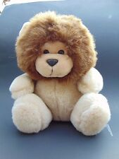 "24K Polar Puff Rorie Lion Plush Brown Tan Stuffed Plush Vintage Animal 10"" 1991"