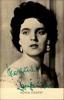 Autogrammkarte Autograph Film Bühne DDR Fernsehen signiert SONJA SIEWERT ~1961
