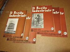IL PERITO INDUSTRIALE ANNATA CPL.1/12 1942 RIVISTA DEL SINDACATO NAZ.FASCISTA