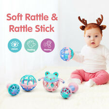 Baby Musical Hand Shaking Rattle Toy Teether Dumbbell Toy For 0-12 Months Old SH