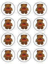 "TEDDY BEARS 2"" CUPCAKE REAL KOPYKAKE EDIBLE ICING IMAGE BIRTHDAY CAKE TOPPERS 12"
