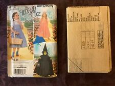 Simplicity Wizard of Oz sewing pattern 4139 Size A child's costume Dorothy witch