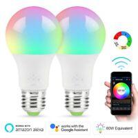 Wifi Smart LED light Bulb 7W(60W) A19 RGBW Dimmable for Alexa/Google/Siri/Amazon