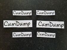Mixed Sized & Colour Temporary Tattoos 'CumDump' Swinger Hotwife Cuckold