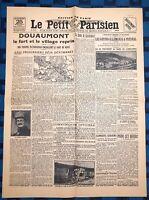 La Une Du Journal Le petit parisien 25 Octobre 1916 Douaumont Repris