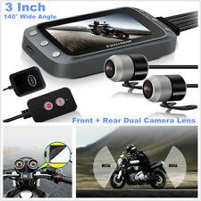 "Motorcycle HD GPS Dash Dual Camera  3"" Display Front+Rear DVR Driving Recorder"