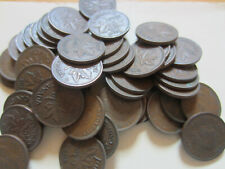 Roll of Canada King George VI Small Cents Coins. 50 Pennies